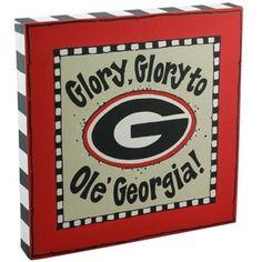 Georgia Bulldogs Logo Canvas