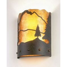 Steel Partners Timber Ridge 1 Light Wall Sconce Finish: Rust, Shade Color: Slag Glass Pretended