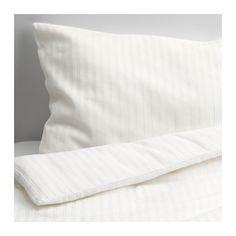 LEKLYSTEN Quilt cover/pillowcase for cot, white white 110x125/35x55 cm $15