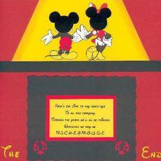 Disney scrapbook last page idea