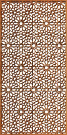 Based on traditional Islamic and Arabic design work, our pattern has an exotic elegance. Well balanced pattern with consistent sized fret work. Laser Cut Screens, Laser Cut Panels, Laser Cut Metal, Laser Cutting, Moroccan Design, Moroccan Pattern, Jalli Design, Metal Screen, Screen Doors