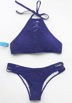 Hit this Solid Color Halter Bikini Set, only $21.99 & Short Shipping Time! Easy Return + Refund! Everything is better with the super comfy fit and unique design. Dream it and get it!