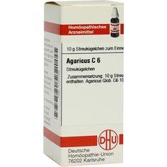 AGARICUS C 6 Globuli:   Packungsinhalt: 10 g Globuli PZN: 07157762 Hersteller: DHU-Arzneimittel GmbH & Co. KG Preis: 5,50 EUR inkl. 19 %…