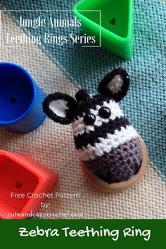 Zebra Teething Ring | Free Crochet Pattern | Jungle Animal Teething Ring | Amigurumi Zebra
