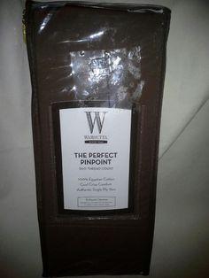 wamsutta 360 pinpoint twin flat sheet mocha - Wamsutta Sheets