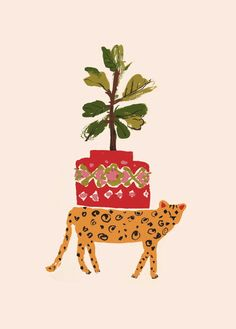 Danielle-Kroll_Buddy-Editions_Cheetah_Leisure_animal-leopard-nursery-childrens-kids-art-print-fig-tree