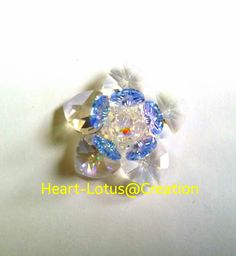 Sacred crystal lotus flower