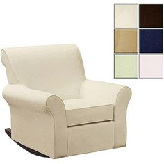Customize - Dorel Rocking Chair and Ottoman Bundle (Choose your Slipcover) $160 at walmart for rocking chair and ottoman