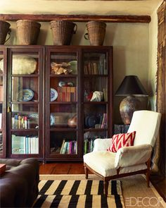 Living room of antiques dealer Michael Trapp's Connecticut home.