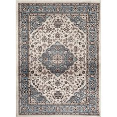 Toscano Devon Rectangular Rug found on Polyvore featuring home, rugs, patterned rugs, oriental rugs, rectangular area rugs, woven rugs and rectangular rugs
