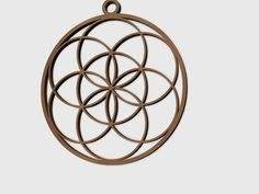 Flower Of Life Pendant by Alajaz - Thingiverse