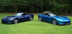 Blue and blue Z06 Corvettes.....so two are better than one