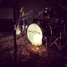 Schlagzeug der Band Ballad of Geraldine. Mehr aus dem Leben in einer Band auf http://rauschration.de/