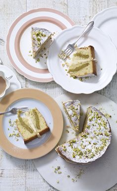 Impress friends and family with this delicious lemon and pistachio Easter cake…