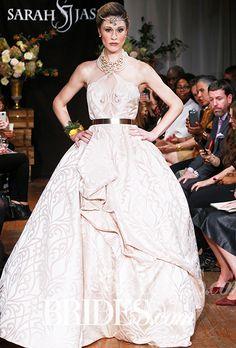 Brides.com: Sarah Jassir - Fall 2015                                                   See photos of Sarah Jassir's Fall 2014 wedding dress collection.
