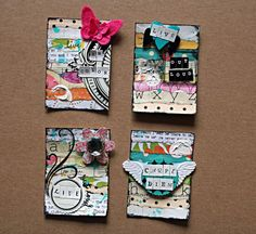 Our Fun Mixed Media ATC Challenge and New Guest Designer Announcement Art Journal Pages, Journal Cards, Art Journaling, Atc Cards, Card Tags, Paper Art, Paper Crafts, Art Trading Cards, Small Art