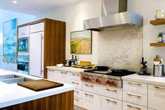 MARBLE WOOD WHITE Kitchen - modern - kitchen - toronto - Andrew Snow Photography