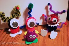 monster pom pom crafts | remember that we used it to make pom pom monsters