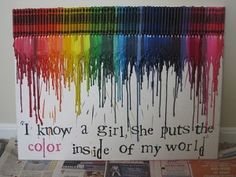 """I know a girl, she puts the color inside of my world."" - perfect nursery picture!"