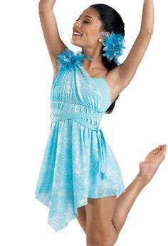 Mesh Tie-Dye Glittered Dress; Weissman Costumes