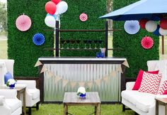 Choosing a Bar Style and Design for Your Event // Hostess with the Mostess® Outdoor Furniture Sets, Outdoor Decor, Wedding Reception, Reception Ideas, Event Decor, Memorial Day, Tent, Bar, Inspiration
