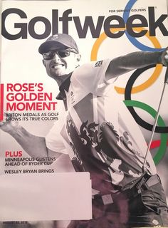 Golfweek Magazine Golf Week August 22 2016 Justin Rose Ryder Cup Olympics | eBay