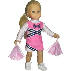 """Doll Cheerleader Outfit, Pink Cheerleader Doll Clothes/Clothing, Fits 18"""" American Girl Dolls Sophia's,http://www.amazon.com/dp/B003MS60N8/ref=cm_sw_r_pi_dp_WVqRsb0GYX8BV0A9"""