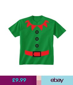 e42d0397ef8 Boys  Clothing Years) Kids Childrens Elf Santa s Helper Christmas Costume  Suit Print T-Shirt