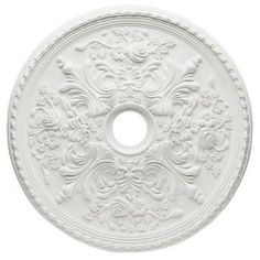 Cape May 28 in. Ceiling Medallion-7775400 at The Home Depot; $49.97 (to spray paint and put on wall as art)