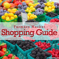 Now that everything is in season in a lot of places, people definitely use the Farmers Market Shopping Guide and shop local. #shoplocal #farmersmarket #guide #shopping