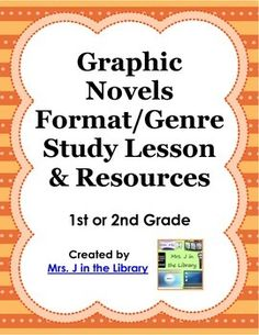 FREE or Grade Graphic Novels Study Lesson Plan Online Resources - This lesson plan introduces 5 graphic novel series for elementary students: Babymouse, Binky the Space Cat, Zig and Wikki, Guinea Pig: Pet Shop Private Eye, and Nursery Rhyme Comics. Library Lesson Plans, Library Skills, Library Lessons, Genre Lessons, Library Ideas, Genre Study, Reading Motivation, Powerpoint Lesson, Information Literacy