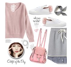 """""""this my style today"""" by omniaasaad ❤ liked on Polyvore featuring Alexander Wang, Minna Parikka, Chloé, FOSSIL and Petit Bateau"""