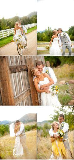Wedding Photo Ideas- rustic/outside