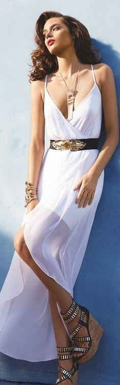 Modern Goddess -White Summer Style - Modern Grecian Goddess maxi dress .