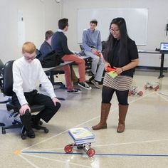 A STEM Expedition transportation hub challenge enabled students to build Load Bots they then used to deliver materials according to a prescribed schedule....