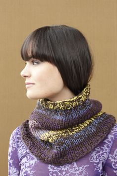 Cross River Cowl - one strand each Lion Brand® Nature's Choice Organic® Cotton & Cotton-Ease®