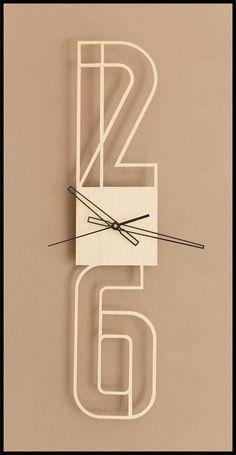 Typographic clock by strudl1803