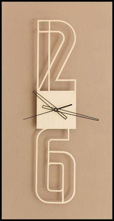 Typographic clock by strudl1803