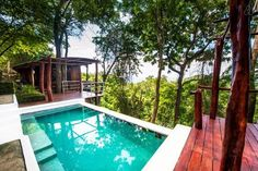 Casa Arbol, NicaraguaThis tropical two-story eco-unit is tucked into a tree canopy in Nicaragua, and comes with its own infinity plunge pool and stunning views of the Pacific (and plenty of wildlife). Oh, and it's only a five-minute drive to three of the area's most pristine beaches. Surely, it's too good to be true. $185/night #refinery29 http://www.refinery29.com/crazy-airbnb-rentals#slide-24