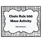 Need an activity to liven up your Calculus class? The Chain Rule 500 Maze is for you! This activity is great for small groups or individual practic...