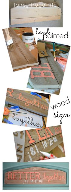 diy hand painted pallet sign