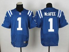 """$23.88 at """"MaryJersey"""" (maryjerseyelway@gmail.com) Nike Colts #1 Pat McAfee Royal Blue Team Color Men's Stitched NFL Elite Jersey"""