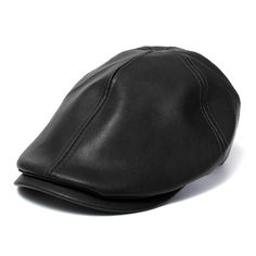 Boina Gorra plana · Men s Artificial Leather Bonnet Newsboy Beret Cabbie  Golf Hat Gentleman Cap at Banggood Gorras Planas 395f8b6f079