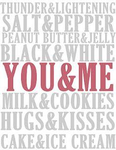 You And Me Printable