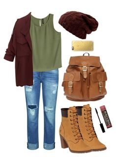 """""""Untitled #34"""" by dn8-35 ❤ liked on Polyvore featuring 7 For All Mankind, Timberland, Casetify, Lord & Berry, Burt's Bees and beastiesforever"""