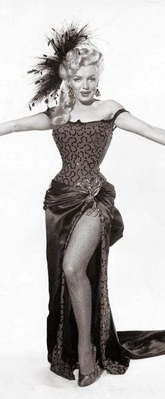Marilyn in a publicity photo for River of No Return, 1954.