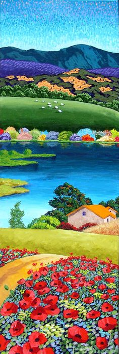 Lakeside Cottage Gene Brown Acrylic on canvas