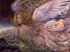 """Nature's Guardian Angel 1"" par Josephine Wall"
