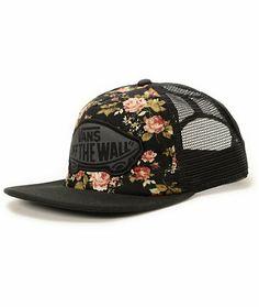 Vans Girls Beach Girl Floral Trucker Hat at Zumiez : PDP