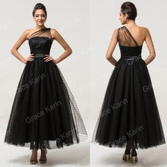 Maxi Black Evening Party Bridesmaid Dresses Long Cocktail Grad Formal Prom Gowns | eBay